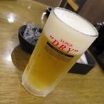 七輪焼肉 安安 - 生ビール_290円