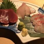 悠助 - 悠助 新宿店(東京都新宿区西新宿)日替わり鮮魚刺し 小 980円