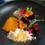 プレゼンテ スギ - 料理写真:2019.11 Sugi畑をお皿に乗せて(自家栽培のキュウリとレタス、高梨農園の根菜など全てガストロバック)野菜ドレッシングのアイス イタリアレモンとオリーブオイルのパウダー パチパチキャンディ