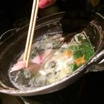 海老の髭 - ◆鍋料理:寒ブリのしゃぶしゃぶ