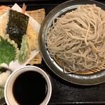 蕎麦切塩釜 - 天麩羅そばセット