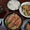 うちなーすばヤージ小 - 料理写真:ゴーヤチャンプルー定食+三枚肉そば