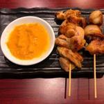 アジアンダイニング ケリア - 鶏もも焼き       ぼんじり