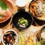 kawara CAFE&KITCHEN - 贅沢2色丼