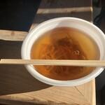 鳴子温泉 ゆめぐり広場 - きのこ汁は100円にまけてくれました(笑)