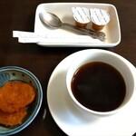 和寒雪割そば - かぼちゃだんご&アフターのコーヒー