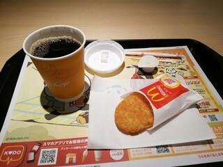 マクドナルド - ホットコーヒーとハッシュドポテト