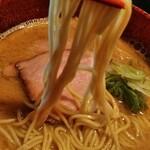 梅花亭 - 鶏塩と同じ#25細麺使用、もう少し太くても良いかな?