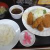 キッチン南海 - 料理写真:カキフライ・クリームコロッケ定食