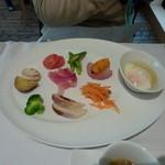 箱根ハイランドホテル ラ・フォーレ - 野菜のパレットの朝食