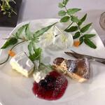 高澤記念館 - ドリンク&ケーキセットのケーキ