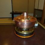 119882080 -  しゃぶしゃぶ用の鍋です。新品なので見栄えが良いです。