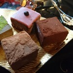 京都生ショコラ オーガニックティーハウス - 生チョコレートは4種類。
