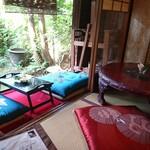 京都生ショコラ オーガニックティーハウス - 店内。和む~~♪癒される~~♪