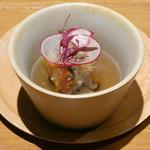 レスペランス カヤモリ - 甘鯛の松笠焼き マツタケの土瓶蒸し