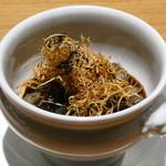 レスペランス カヤモリ - ゴボウのフラン 牛ほほ肉の赤ワインブレゼ