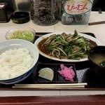 光陽飯店 - ニラレバ炒め定食 950円