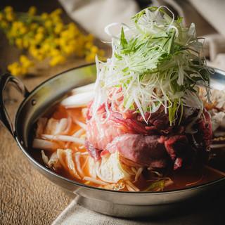 【贅沢な一品】せり鍋・牡蠣鍋・漢方牛豚の塩もつ鍋!