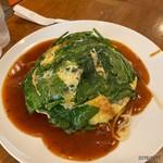 スパゲッティハウス - 菠薐草とシーチキン黄金焼+浅蜊トッピング