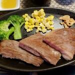 和 - 料理写真:高千穂牛ロースステーキコース 3600円