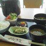 アオーラ - 三瓶町「アオーラ」あじめし定食(900円)