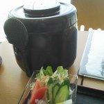 アオーラ - 三瓶町「アオーラ」あじめしのご飯は、おひつでやってきます。