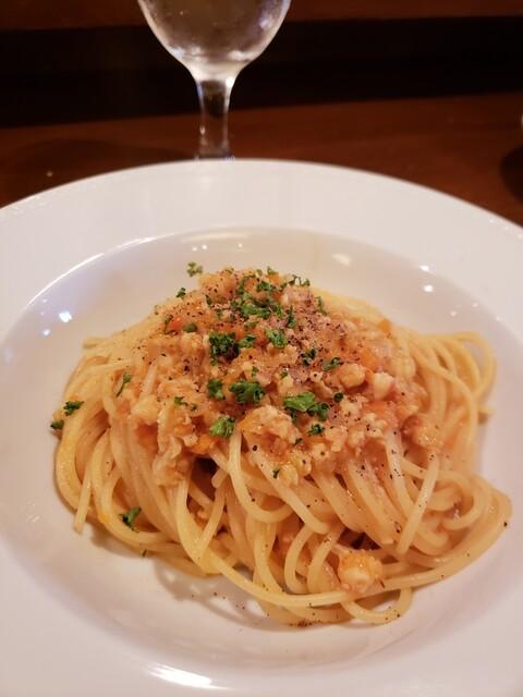プチ ヴェルドー - エビのラグーソーススパゲッティー