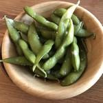 ホップス アンド ハーブズ - わさび風味枝豆です。