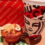 スターバックス・コーヒー - ●おおつぼほまれ×マフィン バナナカカオチップ230円 ●チャイティーラテ Grande 480円