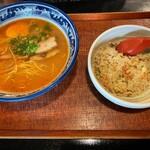 麺処 らー麺亭 - らーめんセット 味噌らーめん・ミニ焼き飯