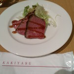 柿安 三尺三寸箸 - 夜限定のローストビーフ