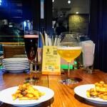 SAKABARU24 SKY - 福島クラフトビール、レッドグレープスパークリング、お通し