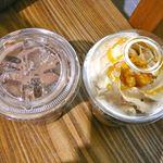 スターバックス・コーヒー - (上から)オレンジ ブリュレ フラペチーノとカフェモカ・2012/2