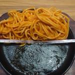 浅草グリルバーグ - 赤ナポリターン902円+大盛(麺1.5倍)110円 器の直径19cm