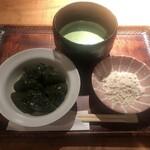 茶香房 長竹 - お薄茶と抹茶わらびもち 1300円