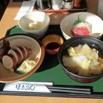 いかめしや 烹鱗 - お刺身付きいかめしとせんべい汁定食¥1,540