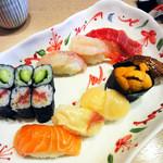 鮨の遊彩 - 料理写真:特上にぎり寿司