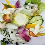 サトミ - 2019年10月 Peluche monde 寺田 義晶シェフの「季節の野菜と魚貝のバーニャカウダ」