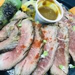 サトミ - 2019年10月 Peluche monde 寺田 義晶シェフの「ザブトンの牛ステーキ」