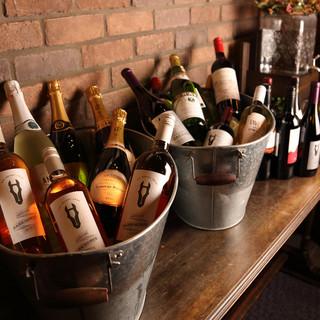 常時30種類以上のワインが楽しめる【ワインビュッフェ】