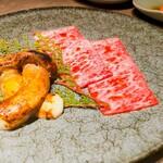119957989 - 松茸とザブトンのすき焼き
