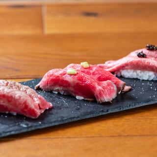 《噂の肉寿司が大人気》低温加熱処理した新感覚の焼肉