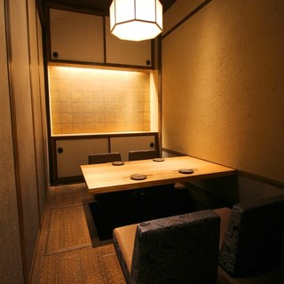 プライベート空間の完全個室!掘り炬燵でゆったり!最大34名