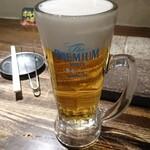 ホルモン二郎 - 一杯目ビール