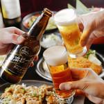 海鮮食飲市場 マルカミ食堂 - 横浜地ビールで乾杯♪
