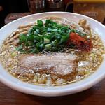 辛口炙り肉ソバ ひるドラ - 料理写真:辛口炙り肉ソバ醤油 3杯目