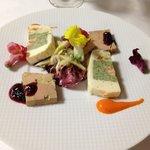 シェ スギイ - 前菜1フォアグラパテとウニのテリーヌ
