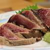 やいろ亭 - 料理写真:マジ美味い カツオのタタキ
