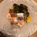 119999411 - 鯖棒と上箱寿司の盛合せ
