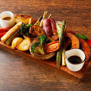 徳島食材をご堪能。オーガニック野菜をシンプルに調理。